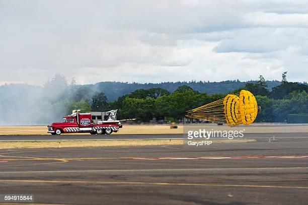 57' Chevy Jet Truck Drag Parachutes Air Show Hillsboro Oregon