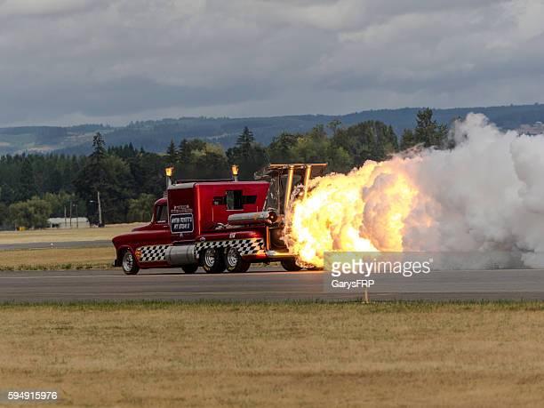 57' Chevy Jet Truck Flame Smoke Air Show Hillsboro Oregon