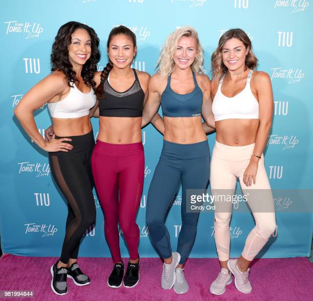 Chevy Laurent Stefanie Corgel Chyna Rae and Tori Simeone attend the Studio Tone It Up Live at Duggal Greenhouse on June 23 2018 in Brooklyn New York