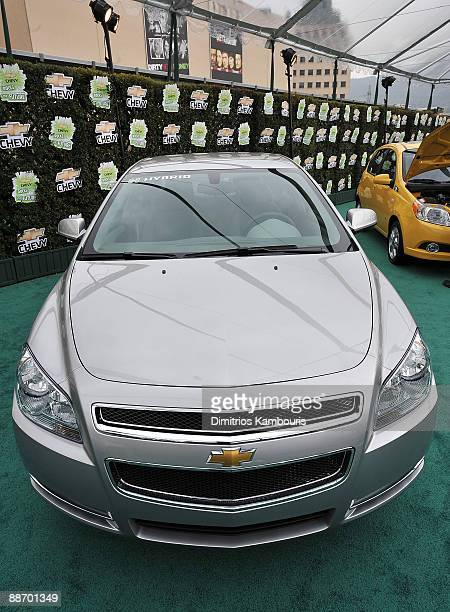 Chevy Malibu Hybrid at Chevy Rocks The Future at the Buena Vista Lot at The Walt Disney Studios on February 19 2008 in Burbank California