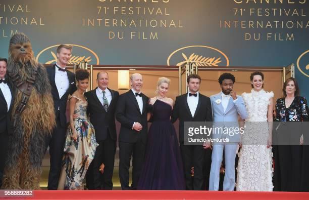 Chewbacca actor Joonas Suotamo actress Thandie Newton actor Woody Harrelson director Ron Howard actress Emilia Clarke actor Alden Ehrenreich actor...