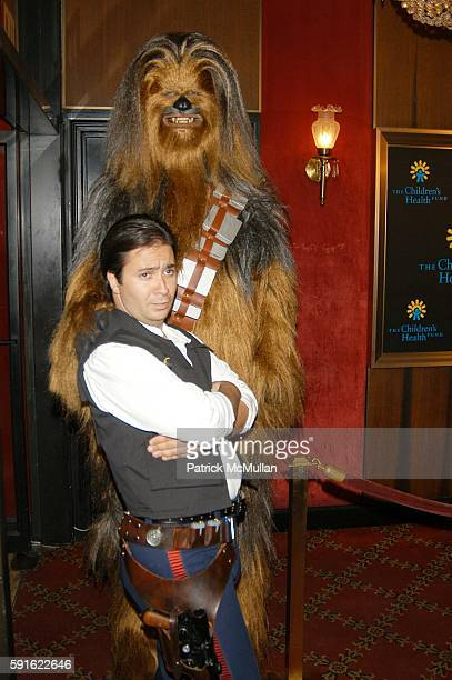 Chewbacca and Han Solo attend 'Star Wars Episode III Revenge of the Sith' screening arrivals benefitting the Children's Health Fund at Ziegfeld...