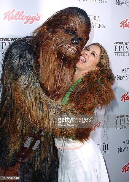 Chewbacca and Roma Maffia during 'Star Wars Episode III Revenge of The Sith' Premiere to Benefit Artists for a New South Africa Charity Arrivals at...