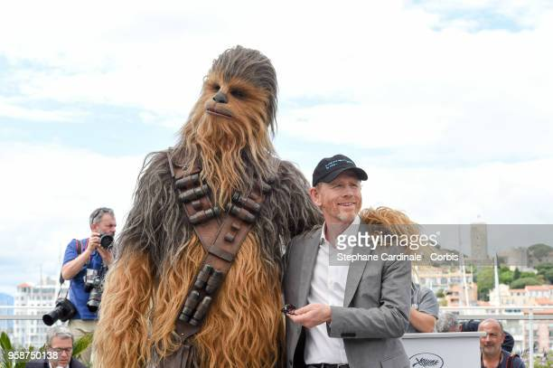Chewbacca and Ron Howard attends Solo A Star Wars Story Photocall during the 71st annual Cannes Film Festival at Palais des Festivals on May 15 2018...