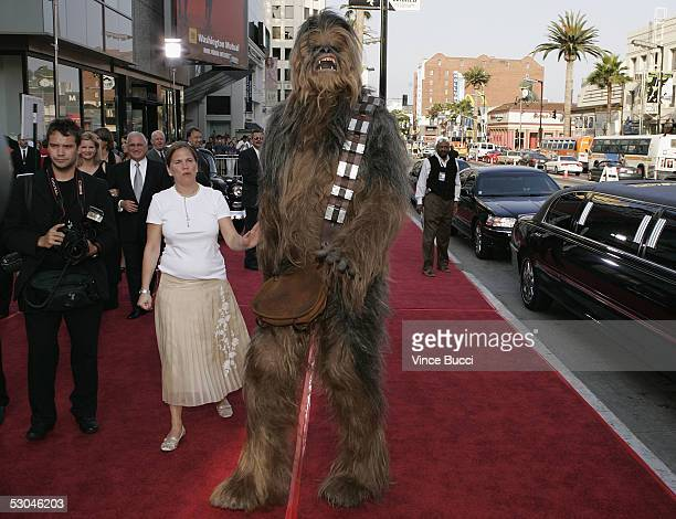 Chewbacca arrives at the 33rd AFI Life Achievement Award tribute to George Lucas at the Kodak Theatre on June 9 2005 in Hollywood California