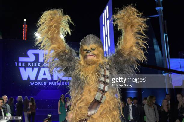 "Chewbacca arrives for the World Premiere of ""Star Wars: The Rise of Skywalker"", the highly anticipated conclusion of the Skywalker saga on December..."