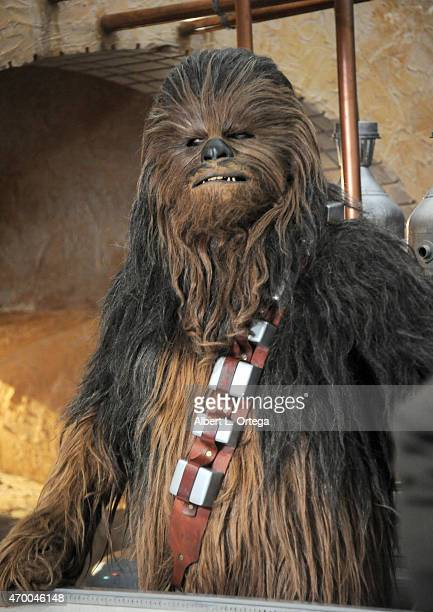 Chewbacca at Day One of Disney's 2015 Star Wars Celebration held at the Anaheim Convention Center on April 16 2015 in Anaheim California