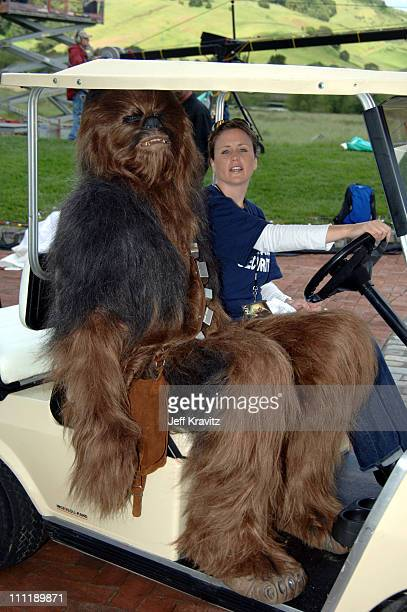 Chewbacca during MTV's 'TRL' at Skywalker Ranch for 'Star Wars III Revenge of the Sith' Screening at Skywalker Ranch in Nicosia California United...