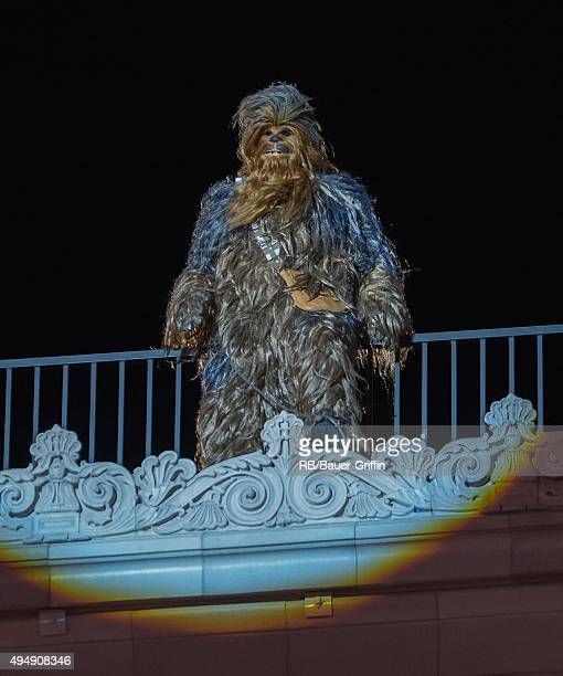 Chewbacca is seen at 'Jimmy Kimmel Live' on October 29 2015 in Los Angeles California