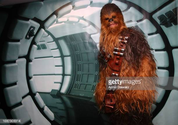 """Chewbacca promotes the digital release of """"Solo: A Star Wars Story"""" at the SiriusXM Studios on September 12, 2018 in New York City."""