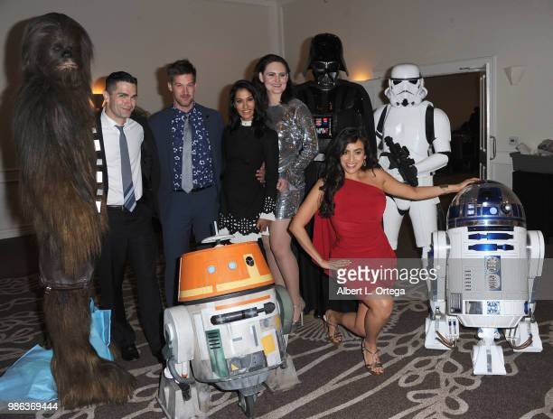 Chewbacca Sam Witwer Kenneth Mitchell Janina Gavankar Mary Chieffo Darth Vader Stormtrooper Chopper Valerie Perez and R2D2 at the After Party at the...