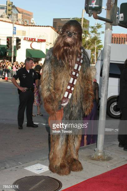 Chewbacca Star Wars Atmosphere at the LA premiere of 'Star Wars Episode 3 Revenge of the Sith at Mann National Theater in Westwood California