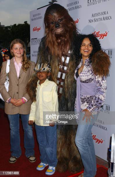 Chewbacca Victoria Rowell daughter Maya and son Jasper