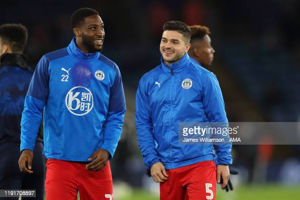 Chey Dunkley of Wigan Athletic and Sam Morsy of Wigan Athletic during the FA Cup Third Round match between Leicester City and Wigan Athletic at The...