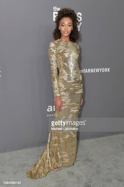 Cheyenne Carty attends the amfAR New York Gala 2019 at Cipriani Wall Street on February 6 2019 in New York City