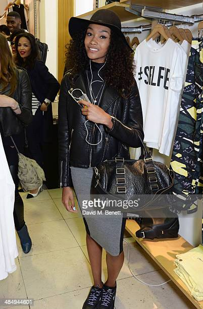 Cheyenne Carty attends the French Connection #CantHelpMySelfie launch party at French Connection Regent Street store on April 15 2014 in London...