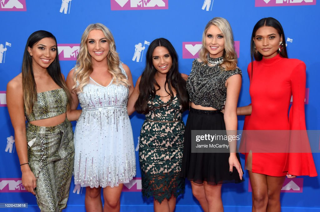 Cheyenne Enriquez, Chandlar Walby, Alyssa Abrenica, Nicole Pleskow and Nikki Hussey of Pretty Little Mamas the 2018 MTV Video Music Awards at Radio City Music Hall on August 20, 2018 in New York City.