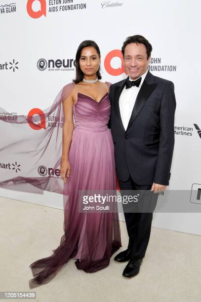 Cheyenne Gordon and Chris Kattan attends Neuro Brands Presenting Sponsor At The Elton John AIDS Foundation's Academy Awards Viewing Party on February...