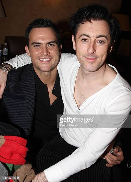 Cheyenne Jackson and Alan Cumming pose at 'Broadway Backwards 4 A Benefit for The Gay Lesbian and Transgender Center of Manhattan' at the American...
