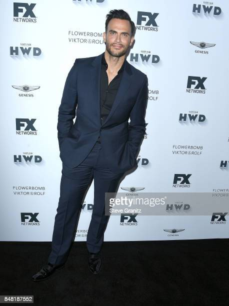 Cheyenne Jackson arrives at the FX and Vanity Fair Emmy Celebration at Craft on September 16 2017 in Century City California
