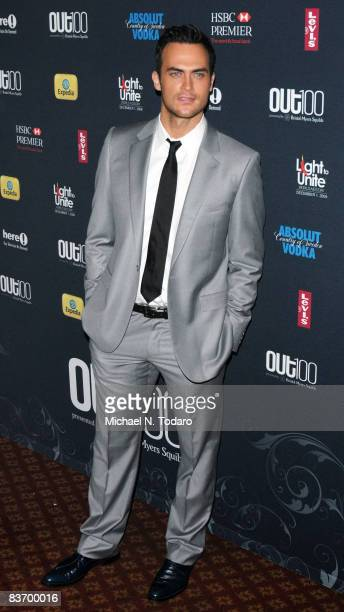 Cheyenne Jackson attends the 15th annual OUT100 Awards at Gotham Hall on November 14 2008 in New York City