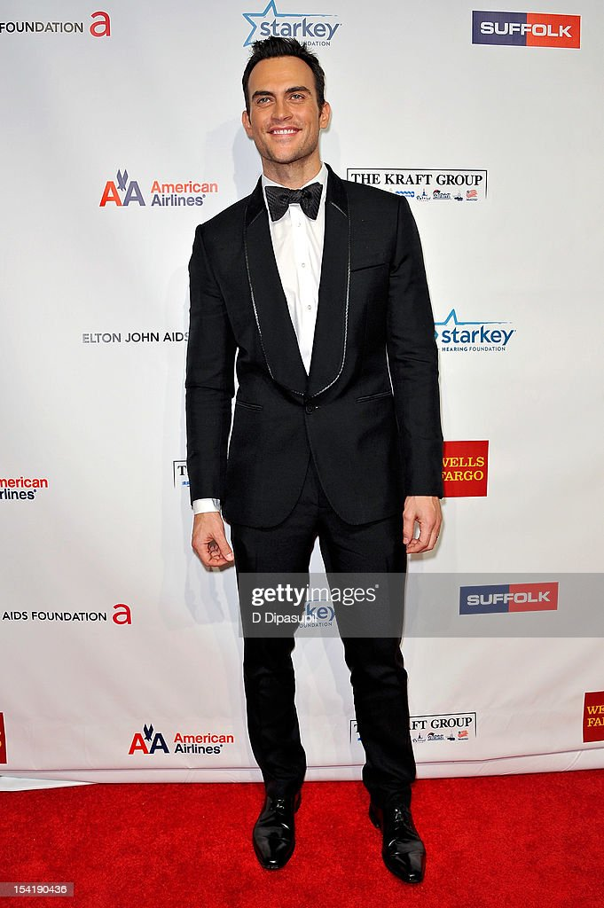 Cheyenne Jackson attends the Elton John AIDS Foundation's 11th Annual 'An Enduring Vision' Benefit at Cipriani Wall Street on October 15, 2012 in New York City.