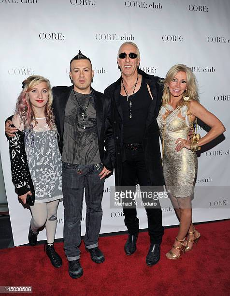 Cheyenne Jean Snider Jesse Blaze Snider Dee Snider and Suzette Snider attend the Celebrity Apprentice Panel Discussion at The Core Club on May 22...