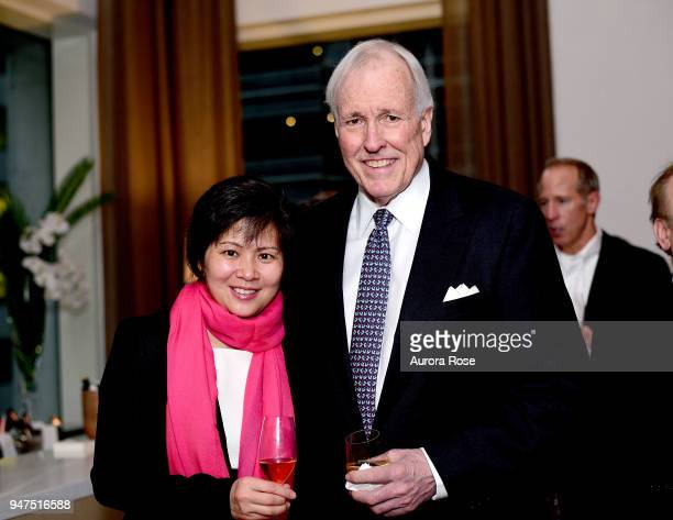 Cheyenne Jiang and John Odin attend Launch Of New Entity Withers Global Advisors at 432 Park Avenue on April 3 2018 in New York City Cheyenne...