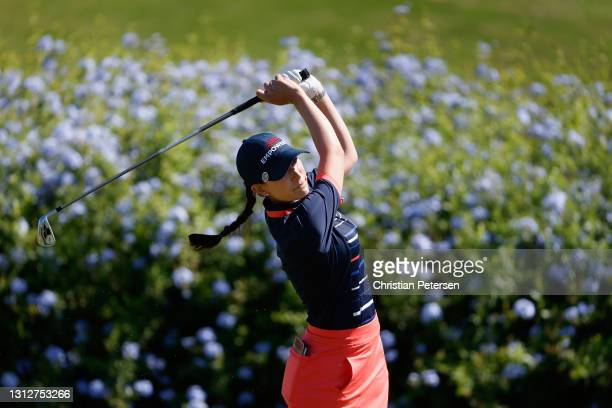Cheyenne Knight of the United States plays a tee shot on the 16th hole during the second round of the LPGA LOTTE Championship at Kapolei Golf Club on...