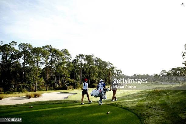 Cheyenne Knight walks up the fourth fairway during the second round of the Diamond Resorts Tournament of Champions at Tranquilo Golf Course at Four...