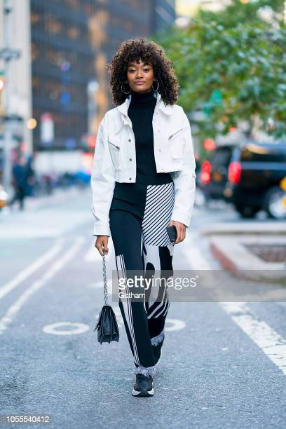 Cheyenne Maya Carty attends fittings for the 2018 Victoria's Secret Fashion Show in Midtown on October 30 2018 in New York City
