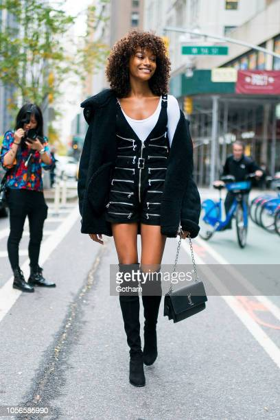 Cheyenne Maya Carty attends fittings for the 2018 Victoria's Secret Fashion Show in Midtown on November 2 2018 in New York City