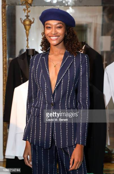 Cheyenne Maya Carty attends Paul Smith Womens Tuxedo Launch at the Italian Embassy on November 28 2018 in London England