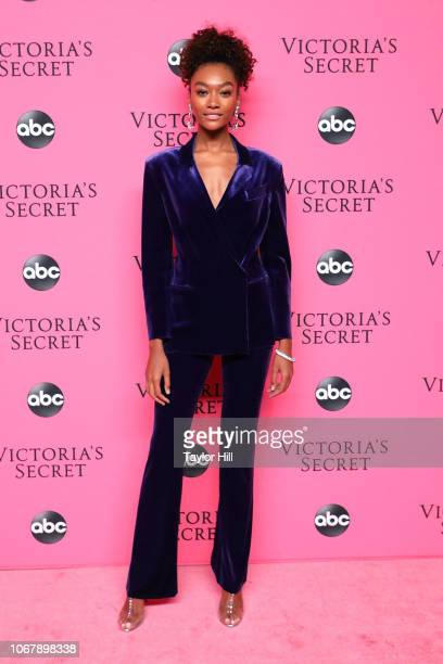 Cheyenne Maya Carty attends the 2018 Victoria's Secret Fashion Show Viewing Party at Spring Studios on December 2 2018 in New York City