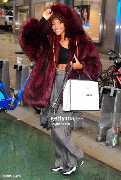 Cheyenne MayaCarty attends fittings for the 2018 Victoria's Secret Fashion Show in Midtown on November 6 2018 in New York City