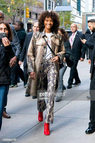 Cheyenne MayaCarty attends rehearsals for the 2018 Victoria's Secret Fashion Show in Midtown on November 7 2018 in New York City