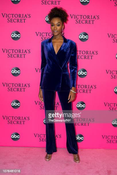 Cheyenne MayaCarty attends the 2018 Victoria's Secret Fashion Show viewing party at Spring Studios on December 02 2018 in New York City