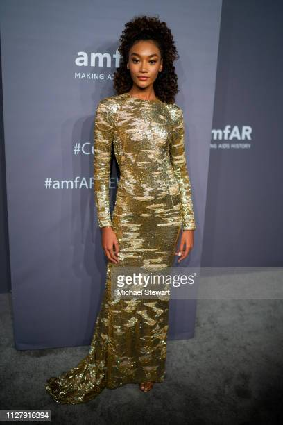 Cheyenne MayaCarty attends the 2019 amfAR New York Gala at Cipriani Wall Street on February 06 2019 in New York City