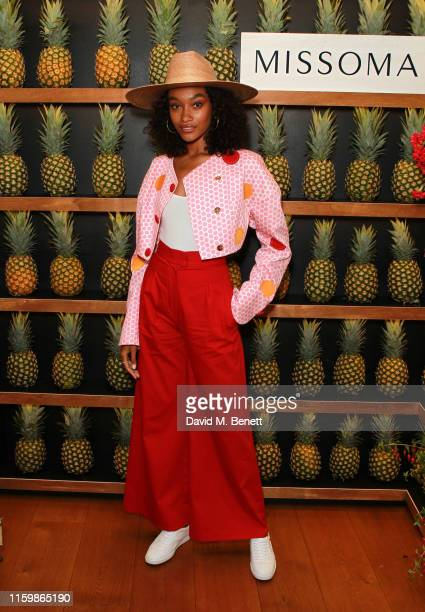 Cheyenne MayaCarty attends the Missoma Summer Party at the Residence of the Embassy of Colombia on July 03 2019 in London England