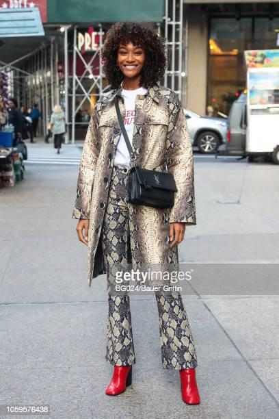Cheyenne MayaCarty is seen on November 08 2018 in New York City
