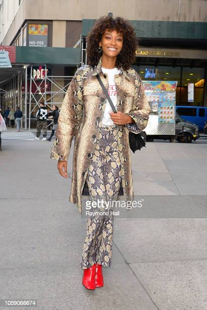 Cheyenne MayaCarty is seen walking in midtown on November 7 2018 in New York City