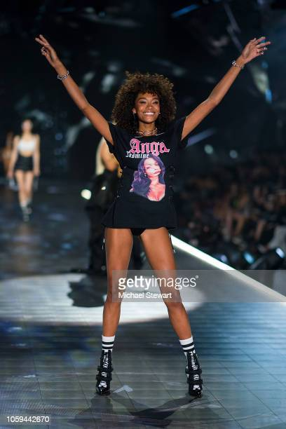 Cheyenne MayaCarty walks the runway during the 2018 Victoria's Secret Fashion Show at Pier 94 on November 8 2018 in New York City