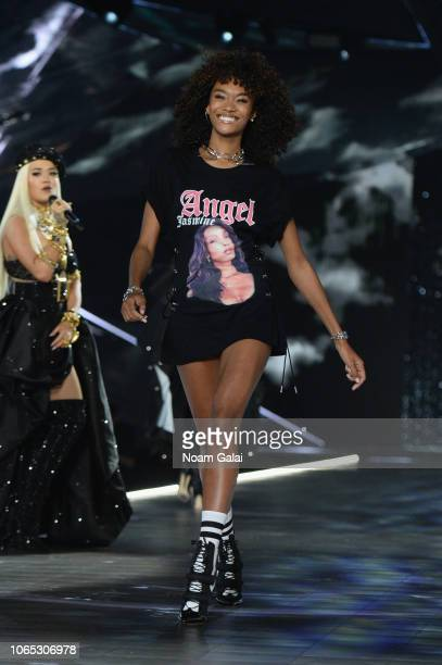Cheyenne MayaCarty walks the runway during the 2018 Victoria's Secret Fashion Show at Pier 94 on November 08 2018 in New York City