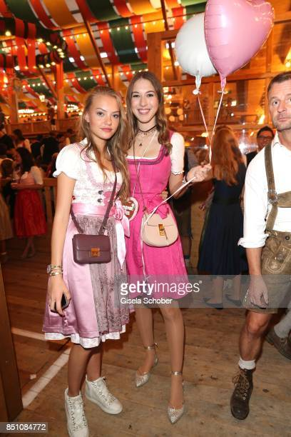 Cheyenne Ochsenknecht and Alana Siegel attend the 'Madlwiesn' event during the Oktoberfest at Theresienwiese on September 21 2017 in Munich Germany