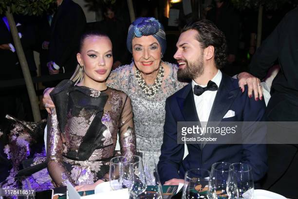 Cheyenne Ochsenknecht and her grandmother Baerbel Wierichs and Jimi Blue Ochsenknecht attend the 25th Leipzig Opera Ball La Dolce Vita in Suedtirol...