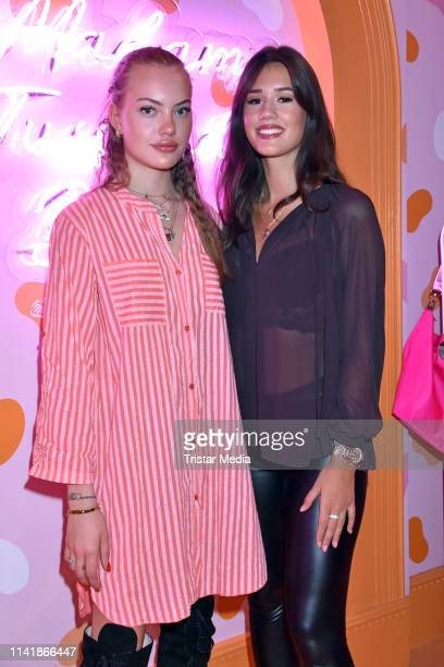 Cheyenne Ochsenknecht and Isabella Ahrens attend the Natascha Ochsenknecht 'Natascha loves Neon' collection launch on May 6 2019 in Berlin Germany