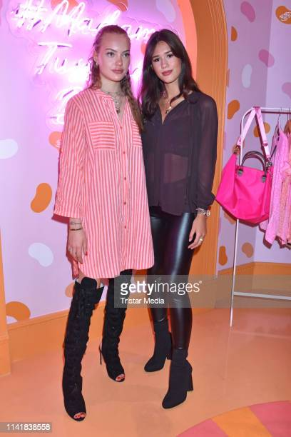 Cheyenne Ochsenknecht and Isabella Ahrens attend the Natascha Ochsenknecht collection launch Natascha Loves Neon in cooperation with Zwillingsherz at...
