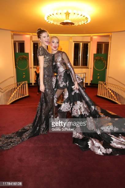 Cheyenne Ochsenknecht and Lilith Becker daughter of Ben Becker attend the 25th Leipzig Opera Ball La Dolce Vita in Suedtirol at Oper Leipzig on...