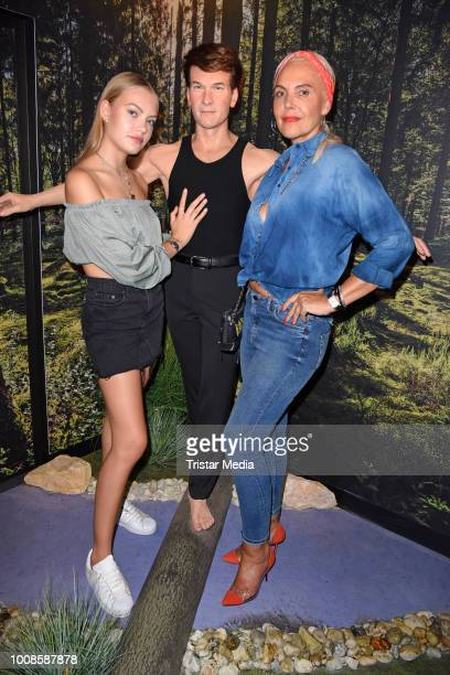 Cheyenne Ochsenknecht and Natascha Ochsenknecht during the 'Madame Tussauds Berlin goes Dirty Dancing' opening party at Madame Tussauds on July 31...