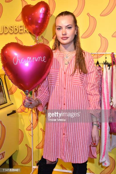 Cheyenne Ochsenknecht attends the Natascha Ochsenknecht collection launch Natascha Loves Neon in cooperation with Zwillingsherz at Madame Tussauds on...